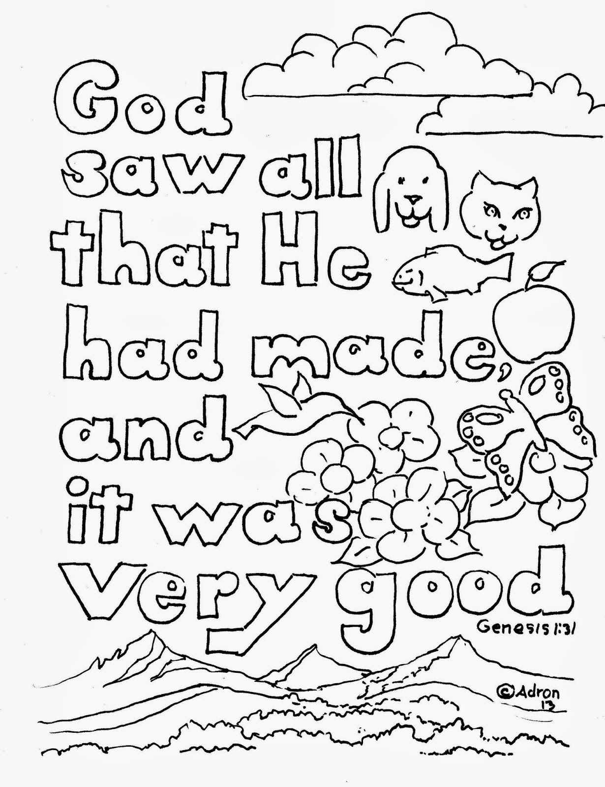 The Best Bible Verse Coloring Pages for toddlers - Home ...