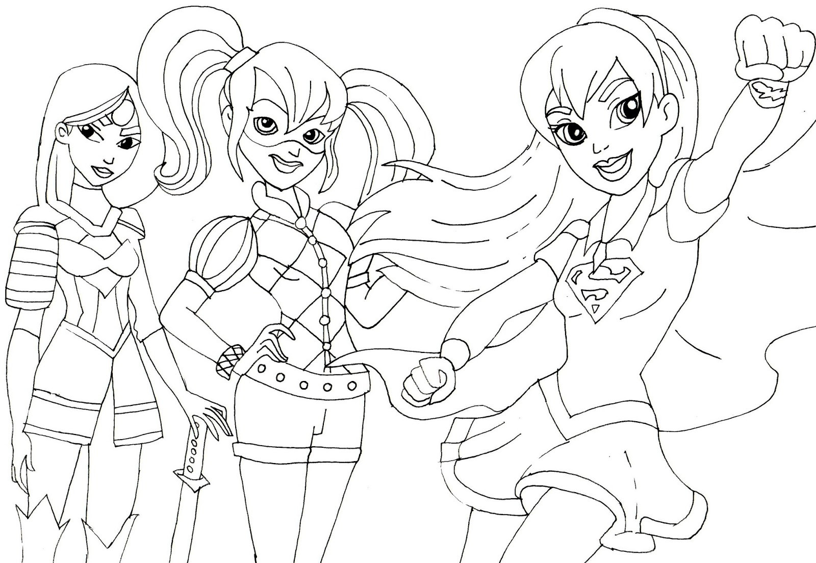 The Best Ideas for Super Hero Girls Coloring Pages - Home ...